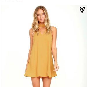Groove thing swing dress yellow worn once medium